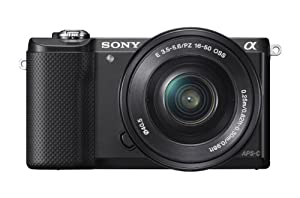 Sony Alpha a5000 20.1 MP Interchangeable Lens Camera with 16-50mm OSS Lens (Black)