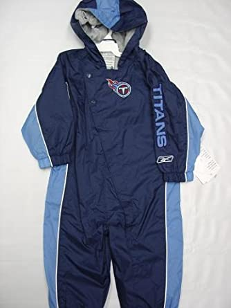 Tennessee Titans Infants Babys Kids blue hooded Wind Suit coverall by Reebok by Reebok
