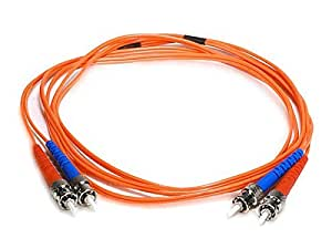 Amazon.com: Cable de fibra óptica, ST / ST, OM1, modo Multi, Dúplex
