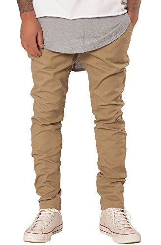 Elwood Men's Tapered Stretch Twill Chino Pants 30 Khaki (Elwood Pants compare prices)