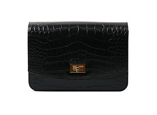 dearwyw-unique-crocodile-skin-pattern-mini-shoulder-cross-body-bag-black