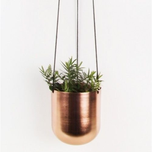 Bloomingville Hänge-Blumentopf in bronze