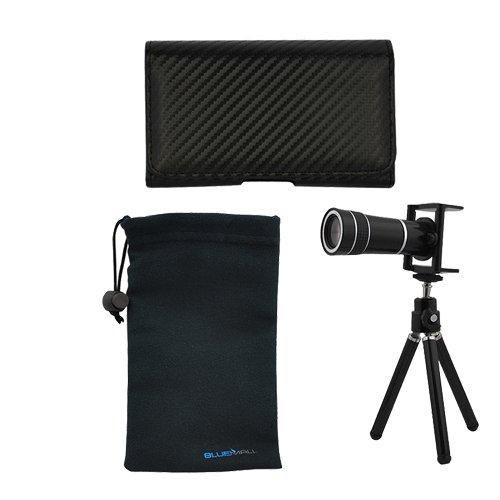 GTMax Universal 10X Optical Zoom Telescope + Tripod Stand + Carbon Fiber Pouch Case + Microfiber Pouch Case for iPhone 4, 4S, 3G, 3GS, HTC Rezound /Vigor 6425, Amaze 4g, EVO 3d ; Samsung Galaxy Nexus i515/i9250, Galaxy S2 / SII I9100