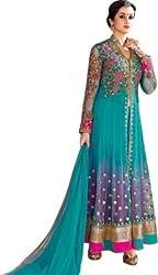 Lakshmi Fashion Creation Women's Georgette Dress Material ( Light Blue )