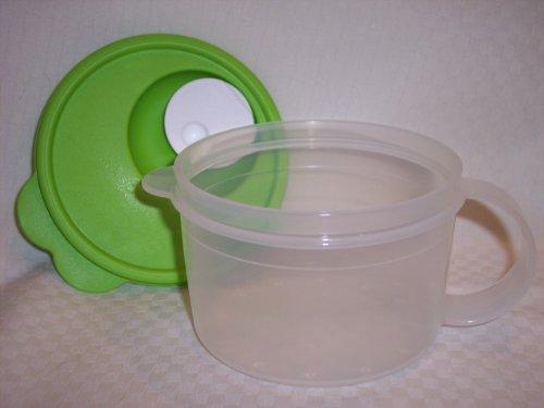 Tupperware Crystalwave Micro 16 Oz Soup Mug New Green
