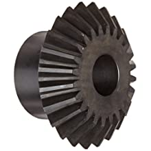 Martin HM Series Miter Gear, 1:1 Ratio, 20 Degree Pressure Angle, Straight Miter, Plain Bore, High Carbon Steel with Hardened Teeth, Inch