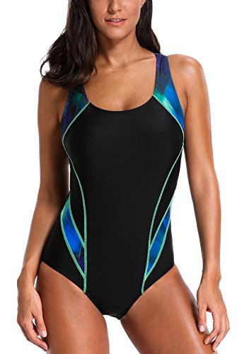 e961fb1a7c203 beautyin Women s One Piece Athletic Racerback Swimsuit Slimming Bathing Suit
