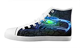 Renben NFL Seattle Seahawks Kids Boy\'s Canvas Shoes Lace-up High-top Sneakers Confortable Sand Shoe