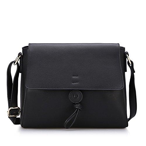 GQQ NUOVE borse a tracolla borse alla moda in pelle per la festa di Shopping e posto di lavoro fino a 5 L GQ borsa @ , black