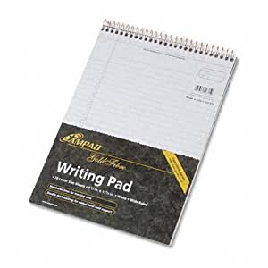 Ampad20-815R Gold Fibre Wirebound Legal Pad, Legal/Wide Rule, Letter, White, 70 Sheets