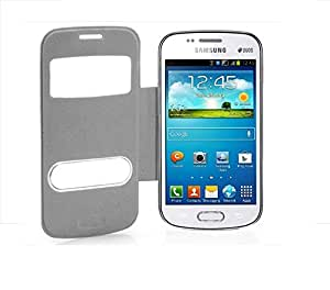Red Qube Premium Flip Cover For Samsung Galaxy Sdous GT-7562/7582(White)