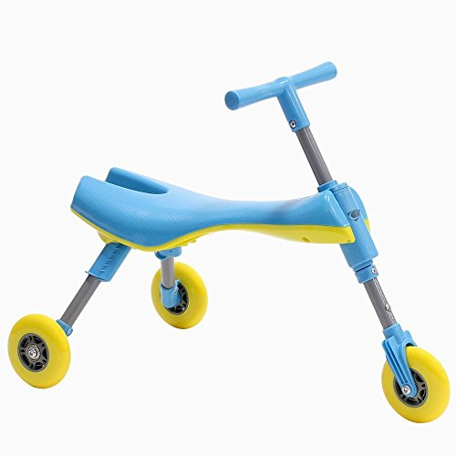 Fly Bike® Foldable Indoor/Outdoor Toddlers Glide Tricycle - Blue (Upright Scooter compare prices)