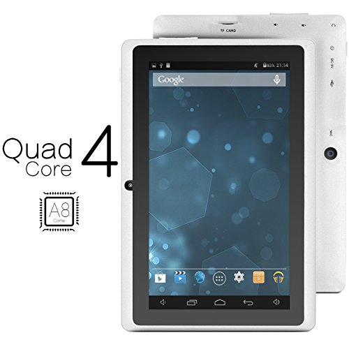 ProntoTec Axius Series Q9 7 Inch Android 4.4 KitKat Tablet PC, 800 x 480 Pixels Cortex A8 Quad Core Processor, 4GB ROM, Dual Camera, G-Sensor, Google Play Pre-loaded -White