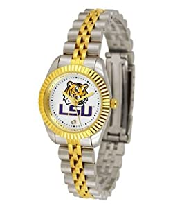 Louisiana State LSU Tigers NCAA Ladies 23Kt Gold Watch by SunTime