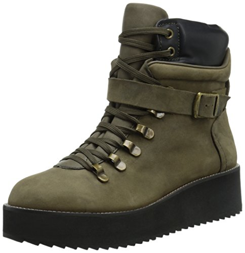 Steve Madden Women's Hiking Boot, Olive Leather, 7 M US