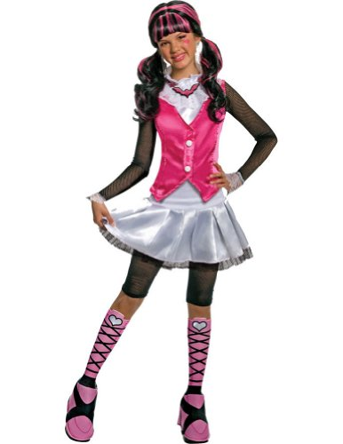 Kids-Costume Monster High Draculaura Child Costume Deluxe Md Halloween Costume
