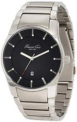 "Kenneth Cole New York Men's KC3868 ""Super-Sleek Collection"" Bracelet Watch with Black Dial"