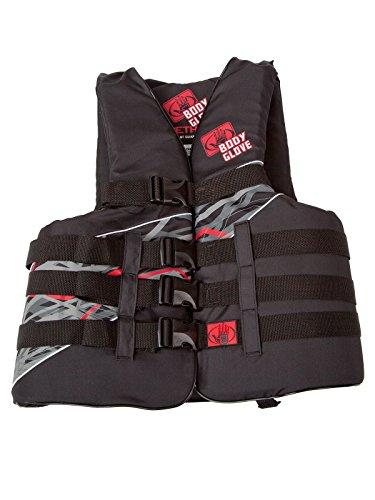 Body Glove Adult Method USCG Approved 4 Buckle Life Jacket Vest, Black, Large/X-Large