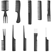 Imported 10pcs Pro Salon Hair Cut Styling Hairdressing Barbers Combs Brush Set Black