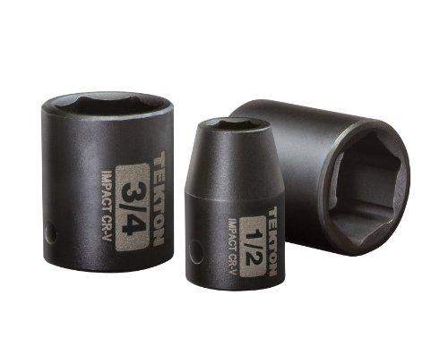 6-Point Cr-V TEKTON 14189 3//8-Inch Drive by 8 mm Deep Socket