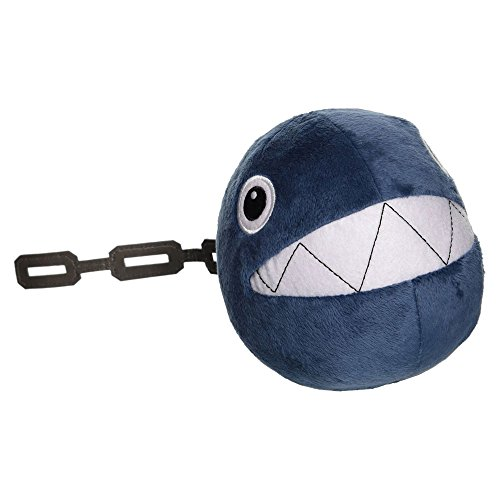 "Little Buddy Official Super Mario Plush 5"" Chain Chomp - 1"
