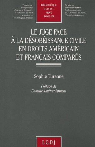 Le juge face à la désobéissance civile en droits américains et français comparés