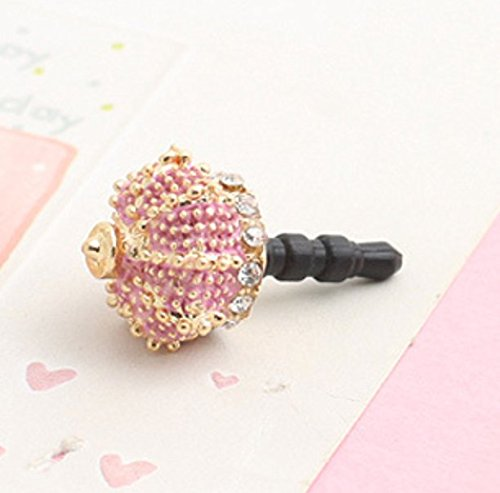 Tiny Chou Lovely Crown with Rhinestone 3.5 mm Cell Phone Charm Anti Dust Plug Earphone Cap Headphone Jack Accessory for iphone 6plus,ipods,ipads,Samsung Galaxy,Huawei,HTC (Crown Headphone Jack Charm compare prices)