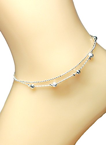 (Villagio) Viragio anklets ladies simple 925 Silver double chain accessories giveaway casual silver popular brand vi-0189