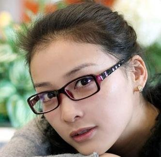 JapaNice オシャレな女性用PCメガネ ブルーライト カット眼鏡 軽量パソコン用めがね J-0500 (パープル/ブラック)