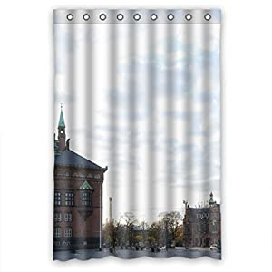custom design beach shower curtains size width height 48 72 inch 122 183 cm. Black Bedroom Furniture Sets. Home Design Ideas