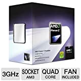 Amd AMD Phenom II X4 945 Deneb 3.0GHz 4 x 512KB L2 Cache 6MB L3 Cache Socket AM3 95W Quad-Core Processor HDX945WFGIBOX