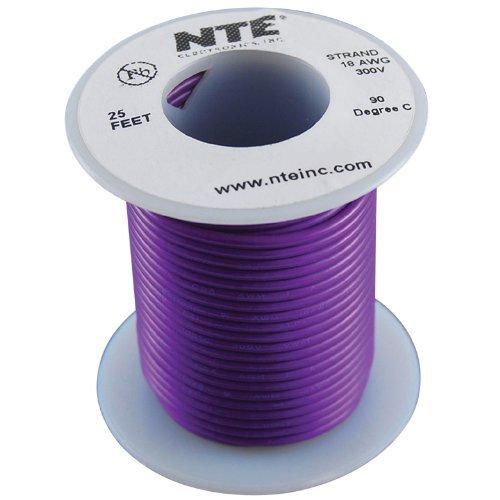 Nte Stranded 18 Awg Hook-Up Wire Violet 25 Ft.