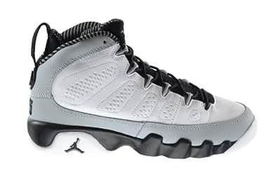 "Air Jordan 9 Retro ""Birmingham Barons"" (GS) Big Kids Basketball Shoes White/Black-Wolf Grey 302359-116 (4 M US)"