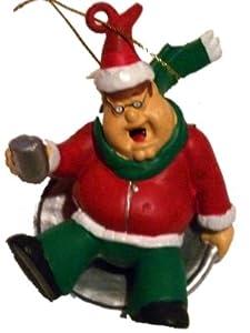 Family Guy Peter Christmas Ornament #41 Peter Sledding Dressed As Santa