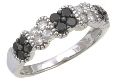9ct White Gold Ladies' Diamond Ring Size S