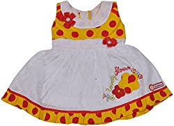 Be BeBo Girl's Cotton Dress (913_2, Red 2, 12-18 months)