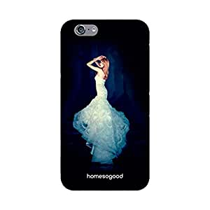 HomeSoGood Wedding Gown Fashion Black 3D Mobile Case For iPhone 6S (Back Cover)