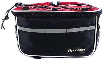 420D Fabric Polyester Red Bicycle Front Tube Frame Bag