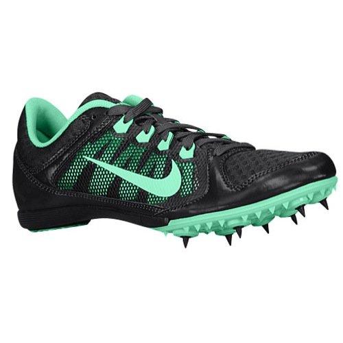 Nike Women's Zoom Rival MD 7, Style# 615982-030, Dark Charcoal/Green Glow, Sz 5 WMNS