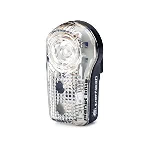 Planet Bike 3034-1 Blinky Superflash .5 Watt LED with 2 Red LED Tail Lights (Black/Clear Case)