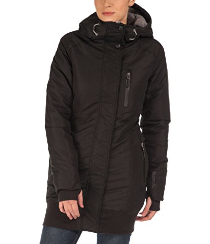 Bench Parka Rizzle B-Giacca Donna, Negro, X-Small