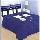 Doctor Who TARDIS Blue King Size Comforter (Color: Blue, Tamaño: 102
