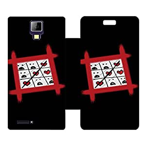 Phone Candy Designer Flip Cover with hi-res printed Vinyl sticker wrap-around for Micromax Canvas Xpress A99
