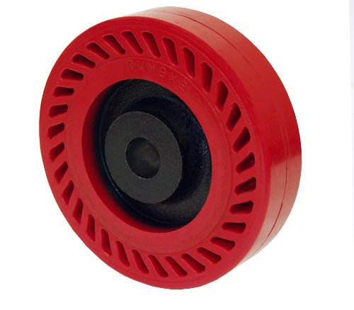 "Rwm Casters Uot-1030-12 10"" Diameter X 3"" Width Omega Wheel With Tapered Roller Bearing, 2000 Lbs Capacity"