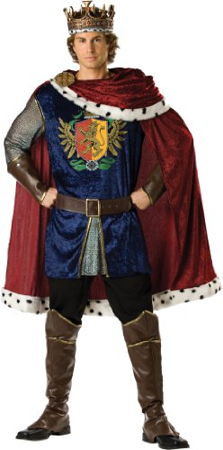 InCharacter Costumes, LLC Noble King Set, Burgundy/Blue, X-Large
