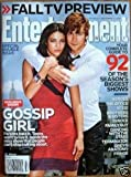 Entertainment Weekly Magazine #1010 / 1011 September 12, 2008 Special Collector's Cover #2 of 3 Jessica Szohr & Chace Crawford Gossip Girl, Heroes, The Office, 90210, 30 Rock, Fringe, Terminator, Family Guy,