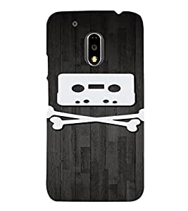 PrintVisa Danger Music Cassette Design 3D Hard Polycarbonate Designer Back Case Cover for Motorola Moto G4 PLAY