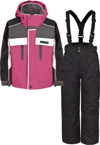Girls TRESPASS SUMACO Pink Ski Jacket & Salopettes Pants Suit Set Ages 2-14