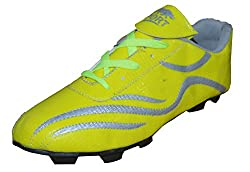Port Ronaldo Yellow Football Shoes( size 7 ind/uk)