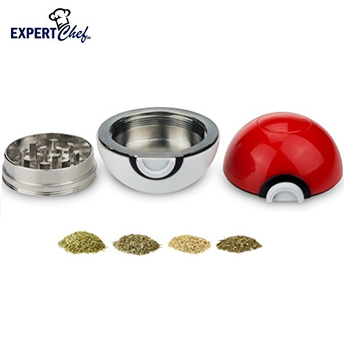 Top Rated PokeBall Spice & Herb Grinder by Expert Chef (Bowl Grinder compare prices)